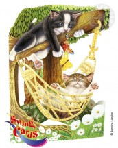 CatsInHammockSwingCard