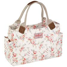 Cath Kidston Day Bag Bleached Flowers White   Penny Royal Gifts