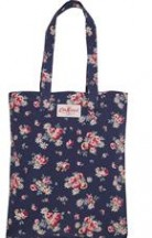 cath kidston book bag cotton daisy rose navy