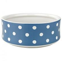cath kidston dog bowl spot blue large