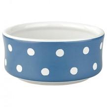 cath kidston dog bowl spot blue medium