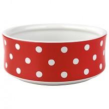cath kidston dog bowl spot red large