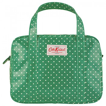 cath kidston mini zip bag mini dot emerald green