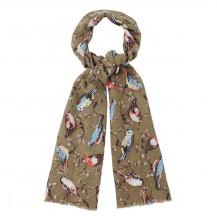 garden birds shawl