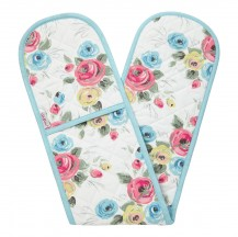 painterly rose oven glove