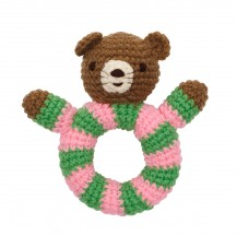 pink knitted rattl