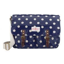 cath kidston saddle bag button spot blue