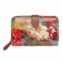cath kidston Autumn Bloom Folded Zip Wallet with Leather oat 442749