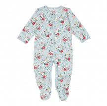 cath kidston Clifton Rose Sleepsuit pale blue