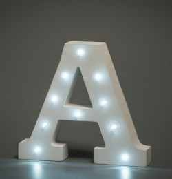 light up letter a