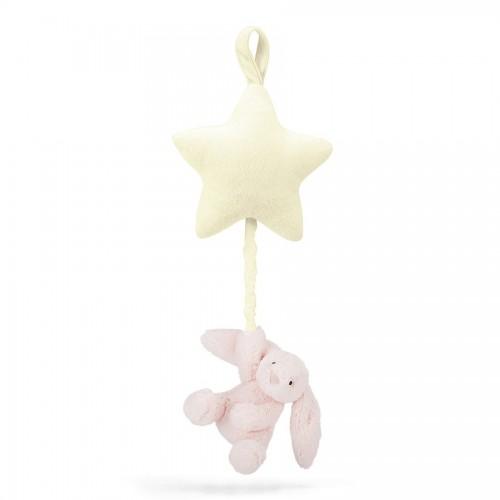 BAMS4BPjellycatBashful Pink Bunny Star Musical Pullpink