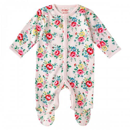 Cath Kidston Latimer Rose Baby Sleepsuit Vintage Pink
