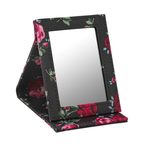 Cath Kidston Stand up Compact Mirror Cranbrook Rose Charcoal